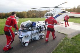 Převoz belgických pacientů s covidem do Německa