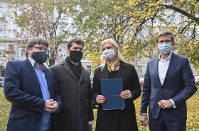 Podpis koaliční smlouvy pro Středočeský kraj