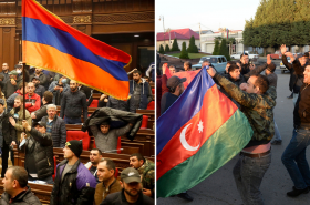 Arméni se bouří, Ázerbájdžánci slaví
