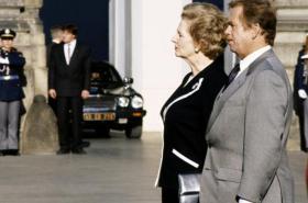 Margaret Thatcherová a Václav Havel