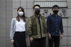 Agnes Chowová, Ivan Lam a Joshua Wong