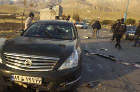 Zničený Fachrizádehův vůz