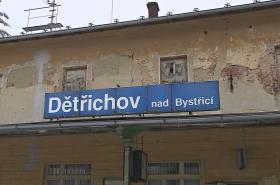 Stará nádražní budova Dětřichov nad Bystřicí