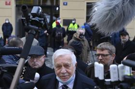 Václav Klaus během oslav 17. listopadu