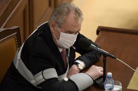 Prezident Miloš Zeman na jednání Poslanecké sněmovny