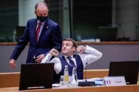 Irský premiér Martin a francouzský prezident Macron