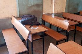 Třída internátní školy ve městě Katsina po útoku ozbrojenců
