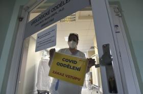 Covid oddělení v Krajské nemocnici T. Bati ve Zlíně