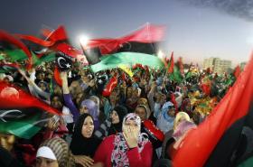 Obyvatelé Benghází oslavují