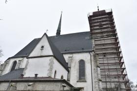 Oprava kostela Povýšení svatého Kříže v Doubravníku na Brněnsku