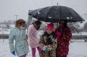 Sněhová bouře paralyzovala Španělsko