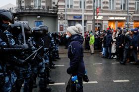 Demonstrace za Navalného v Moskvě