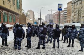 Nedělní demonstrace v Moskvě