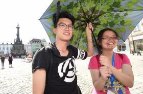 Čínští turisté v Olomouci