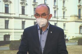 Ministr zdravotnictví Blatný na tiskové konferenci