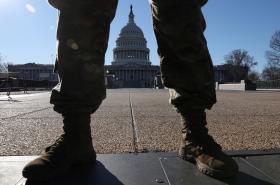Národní garda před Kapitolem