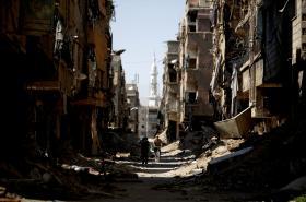 Vybombardovaný Damašek
