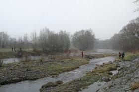 Pátrání po muži v řece Ostravici