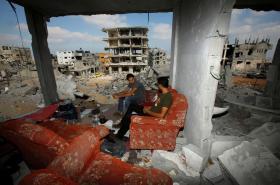 Gaza po izraelském bombardování