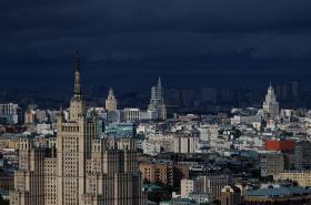 Centrum Moskvy s takzvanými Stalinovými mrakodrapy