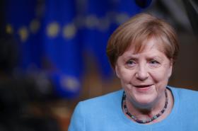 Angela Merkelová na summitu EU v Bruselu