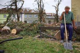 Moravská Nová ves po tornádu