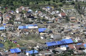 Klon z Letecké snímky ze soboty 26. června 2021 ukazují rozsah postižených obcí na Břeclavsku a Hodonínsku, které zasáhlo tornádo ve čtvrtek 24. června
