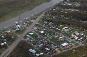 Letecké záběry ukazují rozsah škod způsobených hurikánem Ida v jižní oblasti státu Louisiana