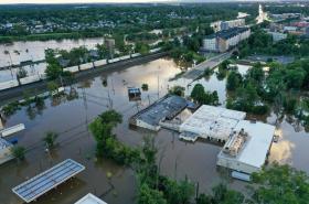 Zaplavený Middlesex ve státě New Jersey