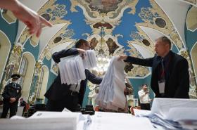 Sčítání hlasů v Moskvě