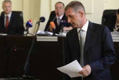 Roman Janoušek u Městského soudu v Praze