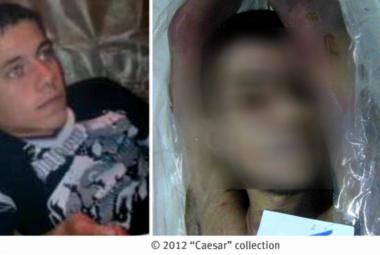 Snímky umučených Syřanů