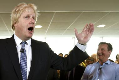Boris Johnson a David Cameron