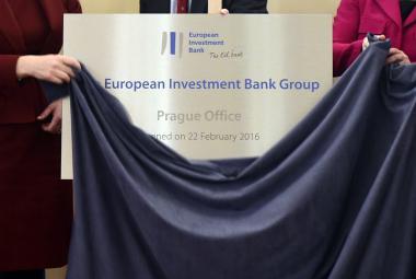 Otevření kanceláře Evropské investiční banky v Praze