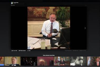 Andrej Kiska a jeho první stream přes Facebook Live