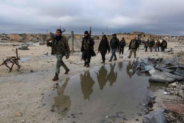 Rebelové v oblasti Aleppa