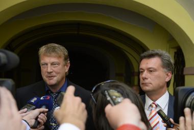 Jiří Komárek a Pavel Blažek