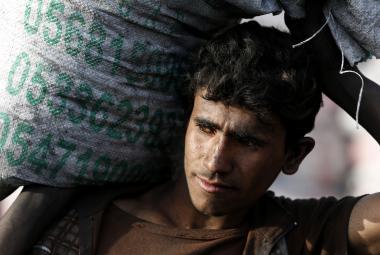 Dělník v Saúdské Arábii