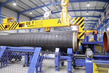 Práce na budování plynovodu Nordstream