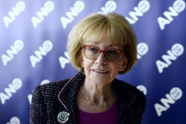 Helena Válková ve volebním štábu ANO v Praze