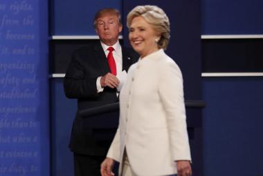 Poslední televizní střet Trump-Clintonová