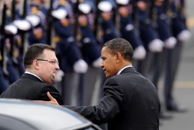 Jindřich Forejt po boku prezidenta Baracka Obamy