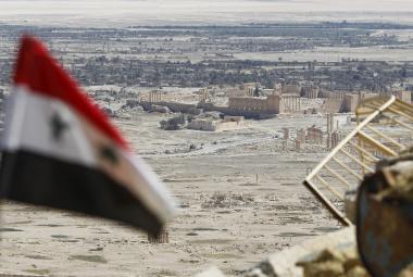 Syrská armáda u Palmýry
