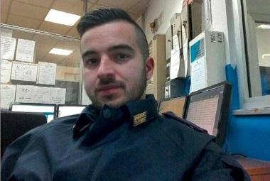 Italský policista Luca Scata