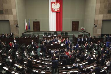 Opoziční protest v Sejmu (16. prosince)