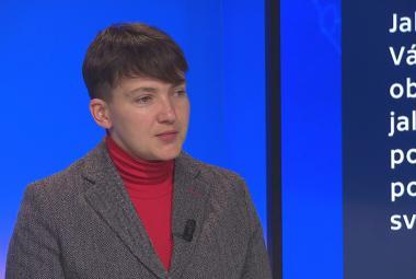 Nadija Savčenková v pořadu Devadesátka