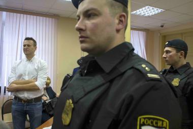 Alexej Navalnyj před soudem v Kirově