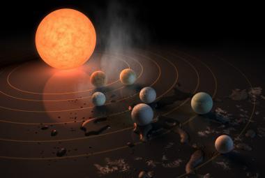 NASA našla hvězdu se sedmi planetami. Tři jsou výjimečně vhodné pro život