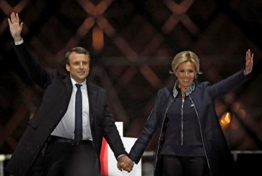 Nový první pár Francie: Emmanuel Macron s manželkou Brigitte