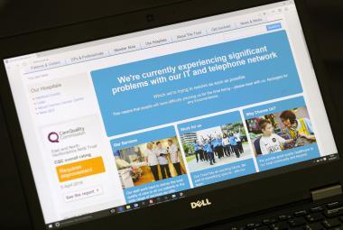 Kybernetický útok na britskou Národní zdravotní službu